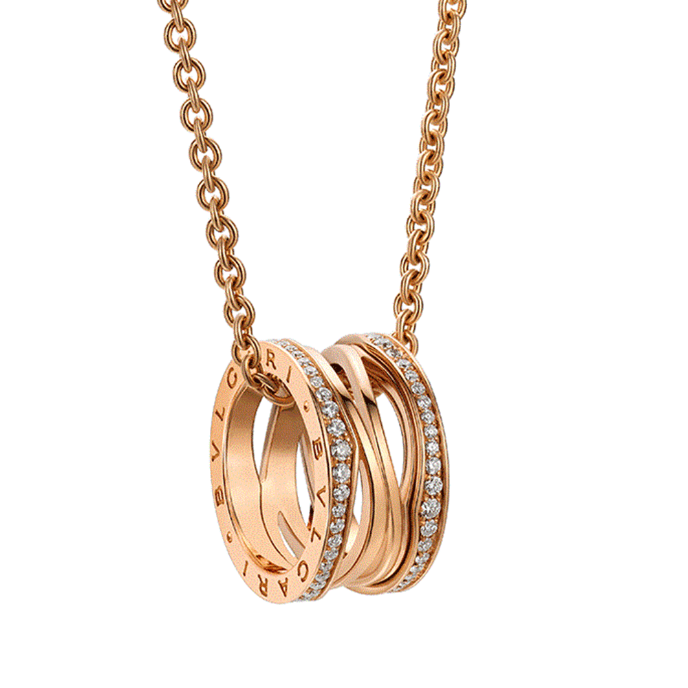 Bvlgari bzero1 zaha hadid 18ct pink gold diamond set pendant bzero1 zaha hadid 18ct pink gold diamond set pendant aloadofball Images