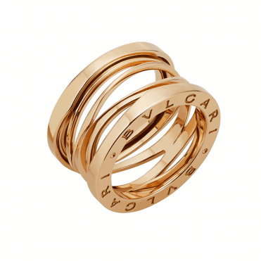B.Zero1 Zaha Hadid 18ct Pink Gold Four Band Ring