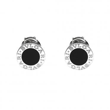 Bvlgari Bvlgari 18ct White Gold & Black Onyx Stud Earrings