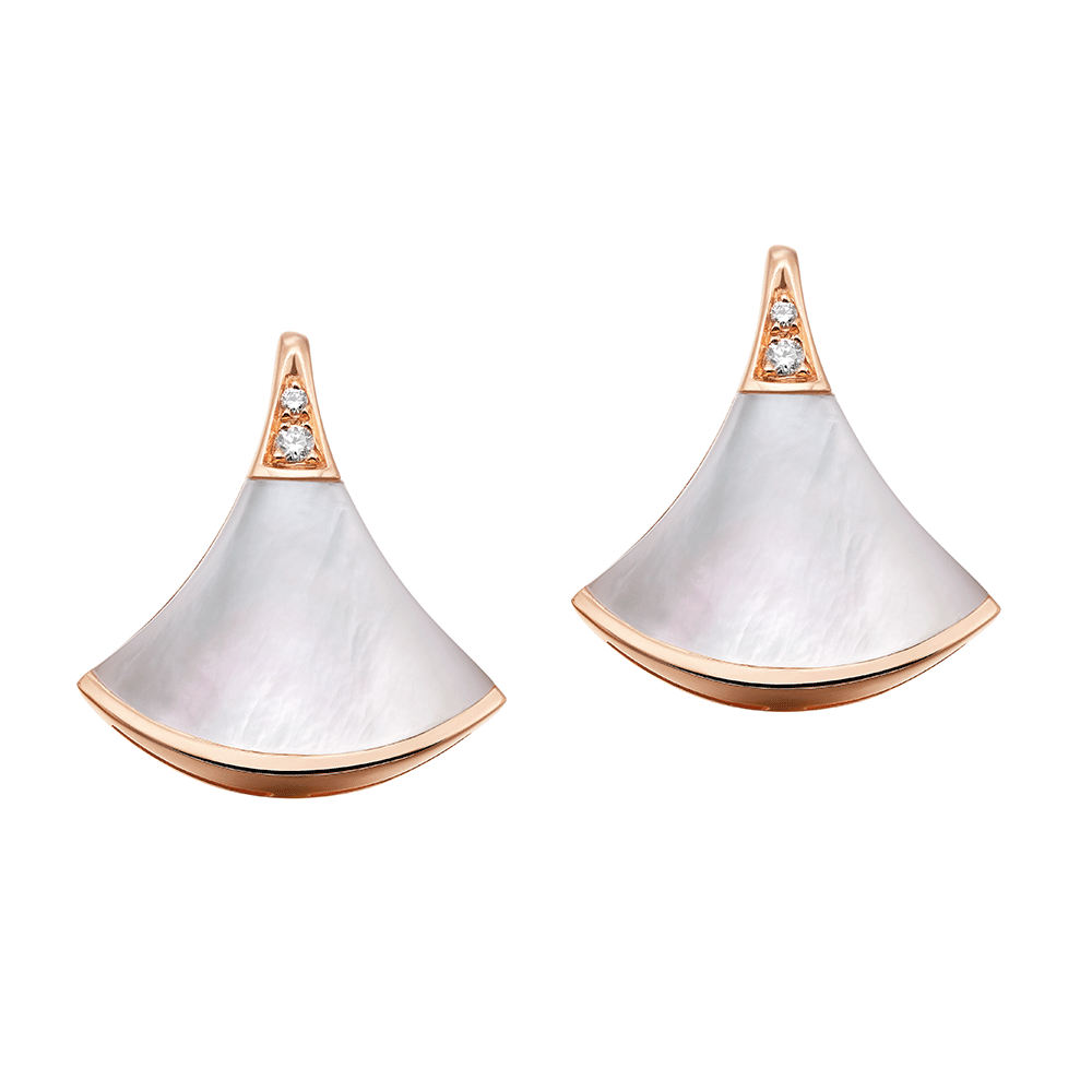 befda3de64 Bvlgari Bvlgari Bvlgari Divina Diva s Dream 18ct Pink Gold Mother of Pearl  Stud Earrings