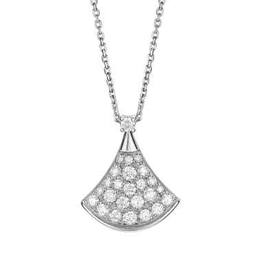 Bvlgari Divina Diva's Dream 18ct White Gold Diamond Pave Pendant