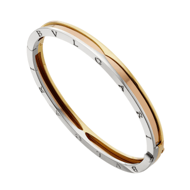 Zero1 18ct Pink, Yellow & White Gold Bangle