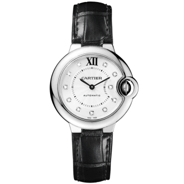 Ballon Bleu 33mm Steel Ladies Automatic Leather Strap Watch
