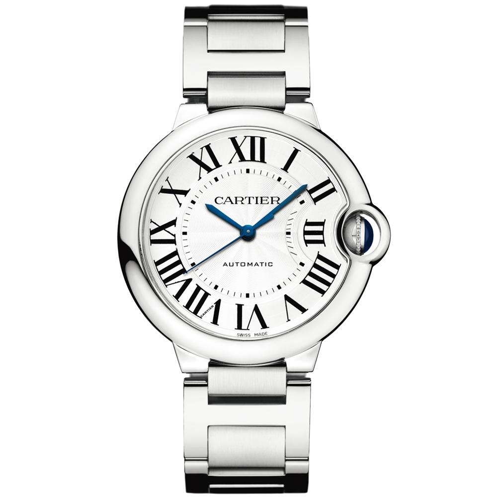 3cf884409e620 Cartier Ballon Bleu 36mm Silver Roman Dial Bracelet Watch W6920046