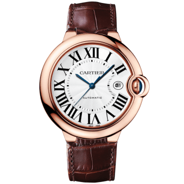 Ballon Bleu 42mm 18ct Pink Gold & Leather Strap Automatic Watch