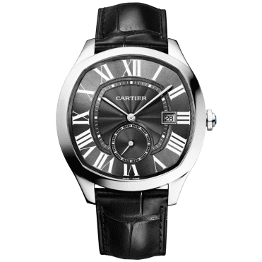 Drive 41mm Steel & Black Roman Dial Men's Strap Watch