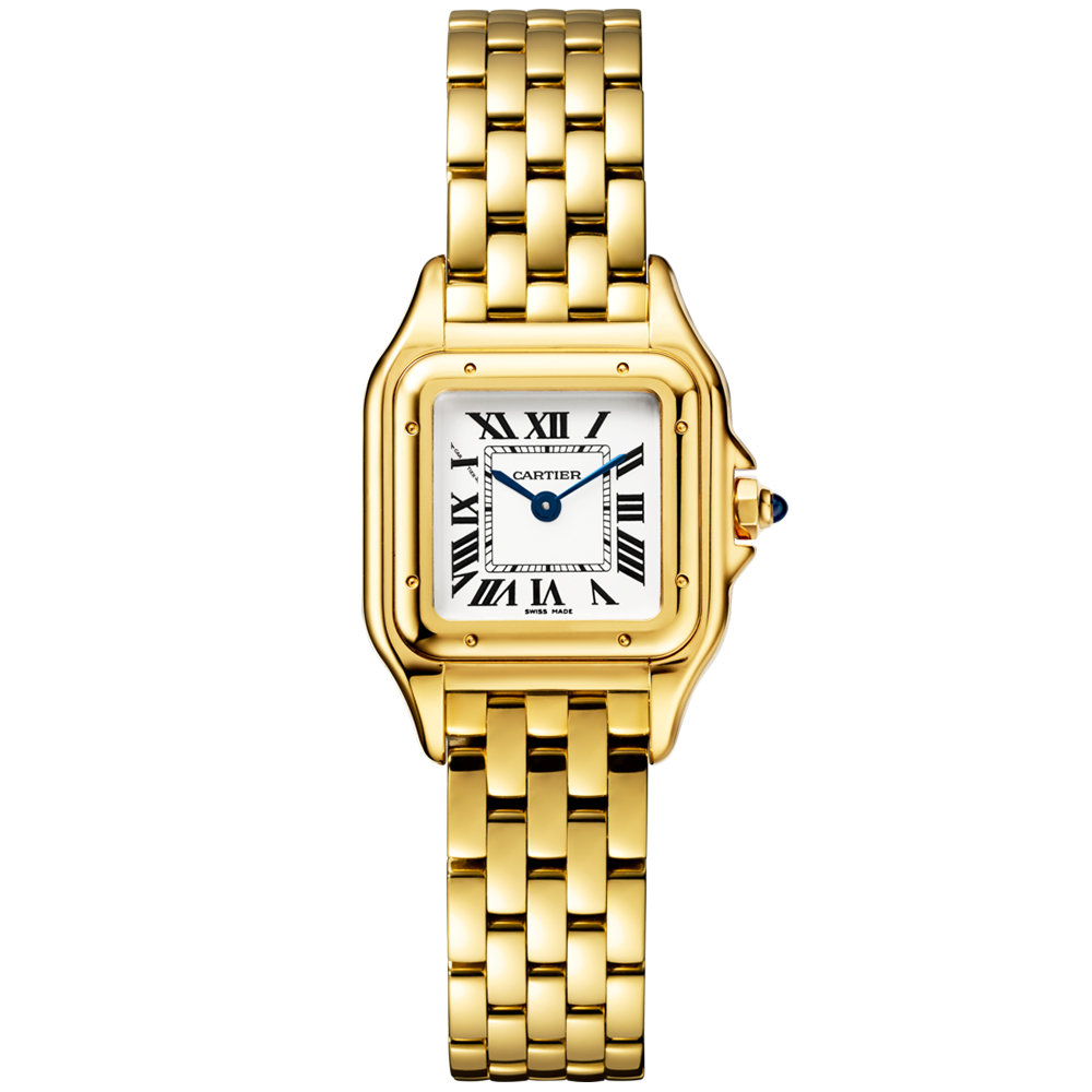 diamond ladies watch cartier dial bezel watches yellow roadster gold silver