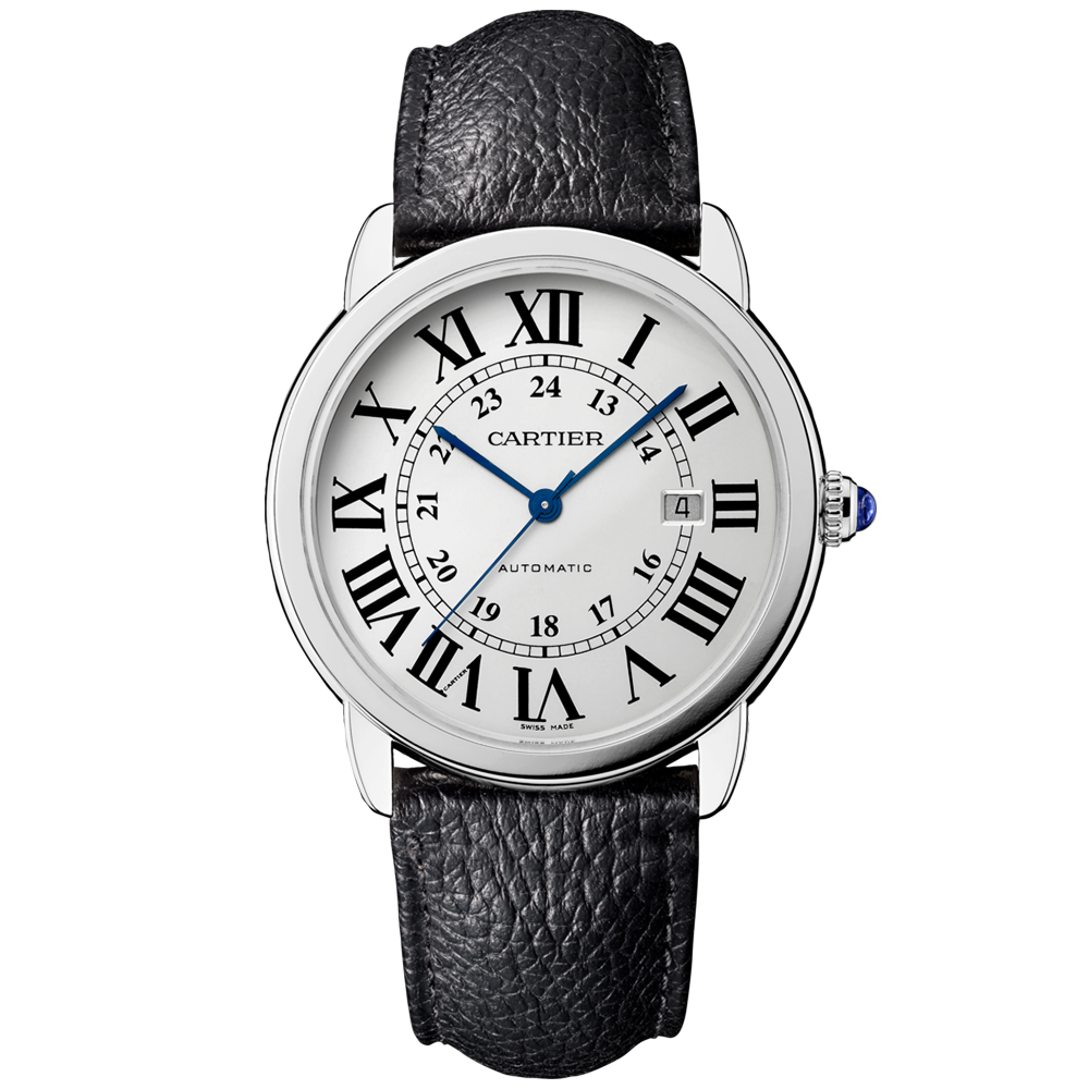 cartier ronde 42mm silver s
