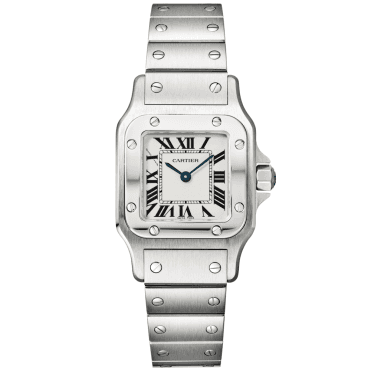 Santos Galbee Steel White Dial Ladies Bracelet Watch