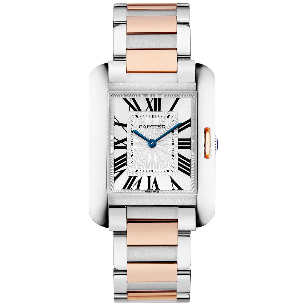 1ab0f2fb904f Cartier Tank Anglaise Medium Steel   18ct Pink Gold Bracelet Watch
