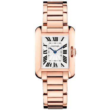 Tank Anglaise Small 18ct Pink Gold Ladies Bracelet Watch