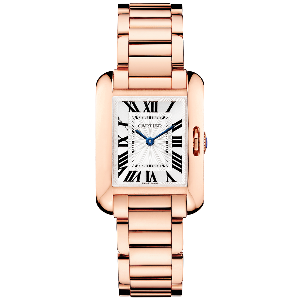 Cartier Tank Anglaise Small 18ct Pink Gold Ladies Bracelet Watch 05a1faf50