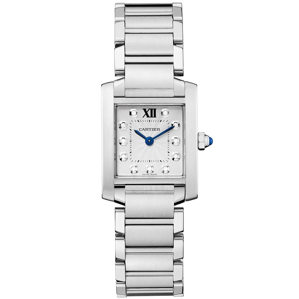 8d1d229fb7a Cartier Tank Francaise Small Steel   Diamond Dial Ladies Watch