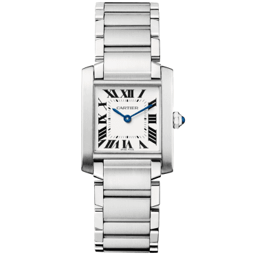 Tank Francaise Medium-Size Steel & White Roman Dial Watch