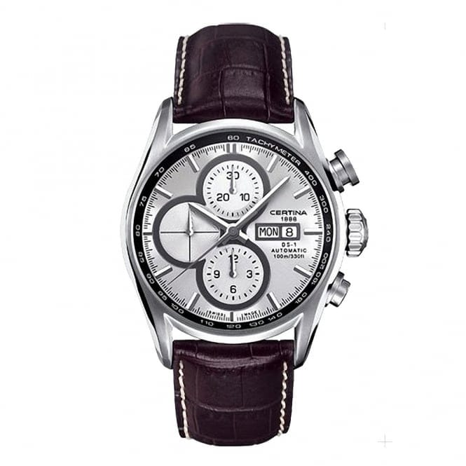 certina ds 1 automatic chronograph steel silver dial men 39 s. Black Bedroom Furniture Sets. Home Design Ideas