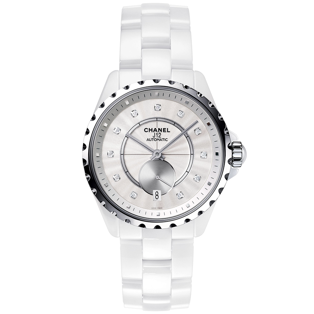 product hand womens chanel xupes chronograph s second women white details ceramic watches