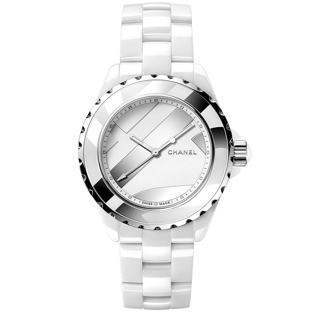Chanel chanel j12 untitled 38mm white ceramic steel bracelet watch