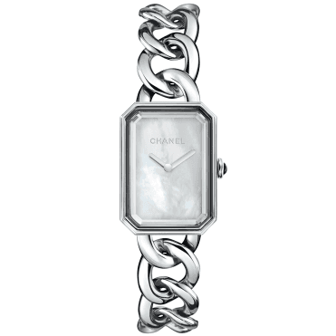 Premiere Large White Mother of Pearl Dial & Chain Bracelet Watch