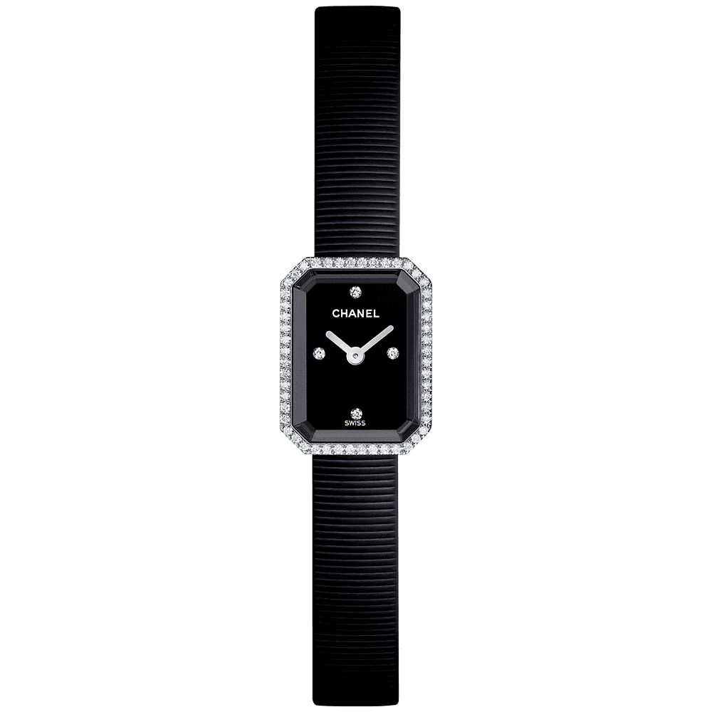 a35bc6e11f26 CHANEL CHANEL Premiere Mini Black Diamond Dial and Bezel Ladies Watch