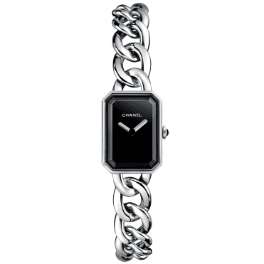 Premiere Small Black Lacquered Dial & Chaine Bracelet Watch