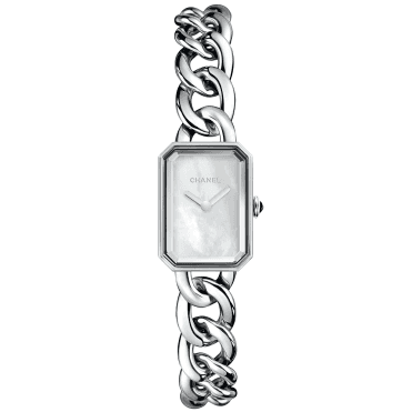 Premiere Small White Mother of Pearl Dial & Chain Bracelet Watch