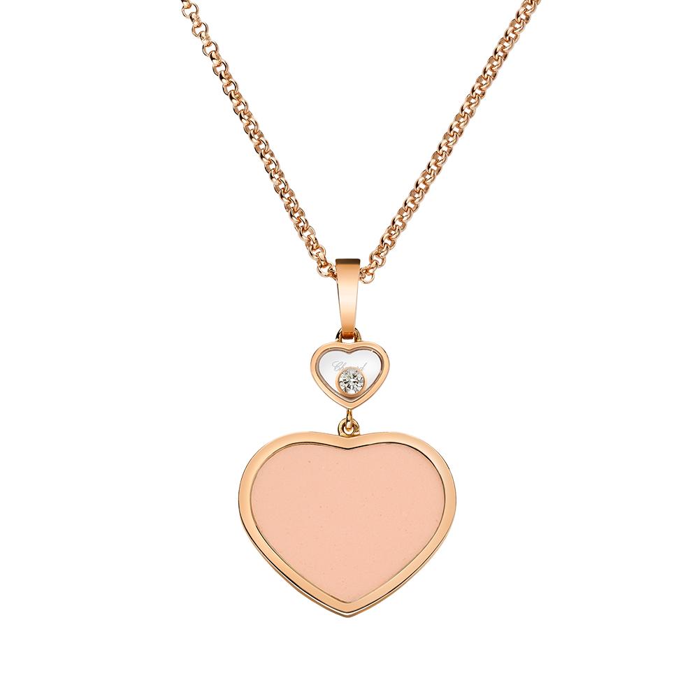 30fdbdf915c20c 18ct Rose Gold Happy Hearts Rose Stone & Diamond Pendant