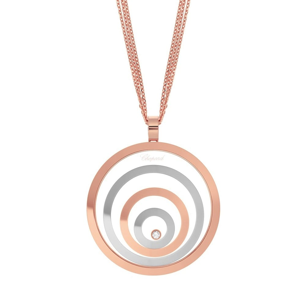 Chopard 18ct rose white gold happy spirit pendant 18ct rose amp white gold happy spirit pendant mozeypictures