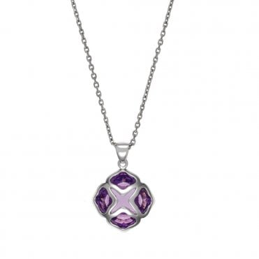 18ct White Gold Amethyst Imperiale Pendant