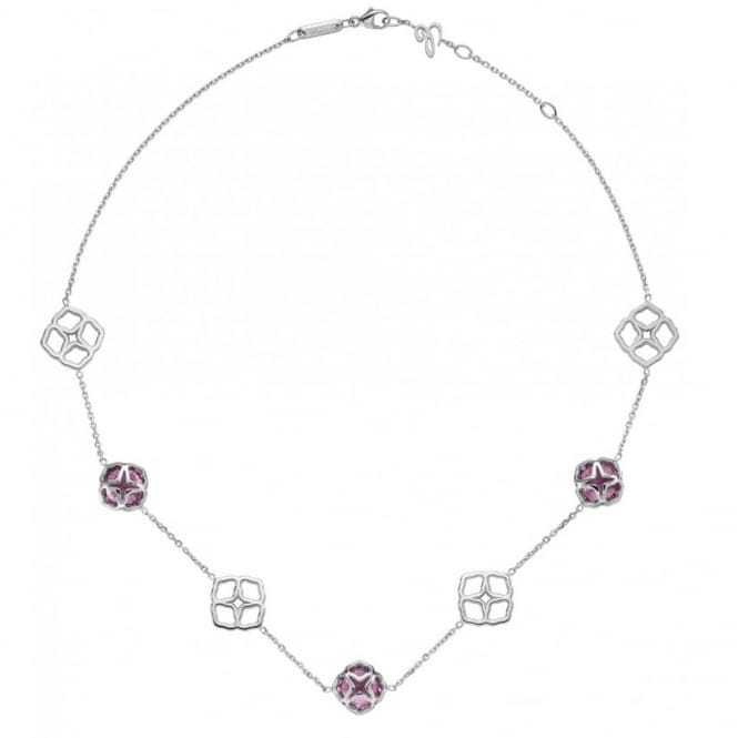 Chopard 18ct White Gold Amethyst & Lace Link Imperiale Necklace