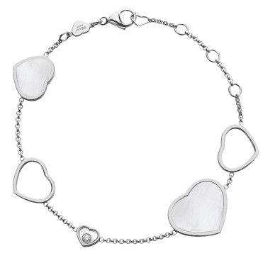 18ct White Gold Mother Of Pearl Happy Diamonds Bracelet