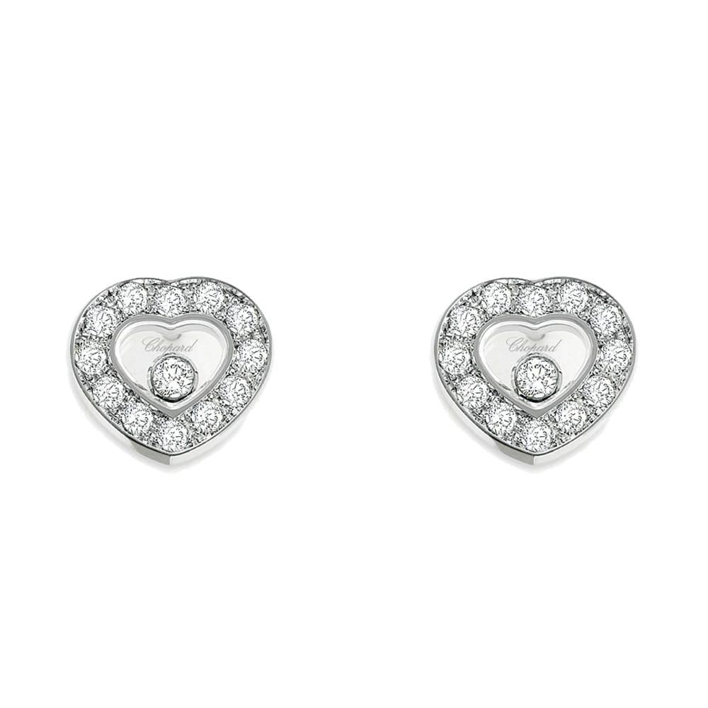 Happy Diamonds 18ct White Gold Heart Earrings