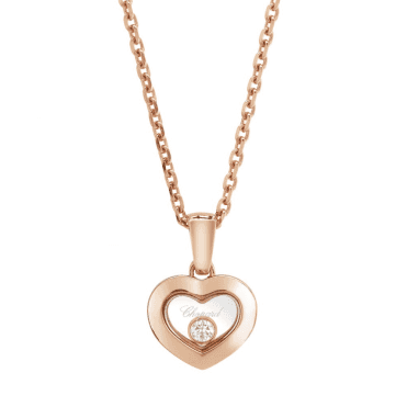 Chopard Happy Diamonds New Icons 18ct Rose Gold Heart Pendant