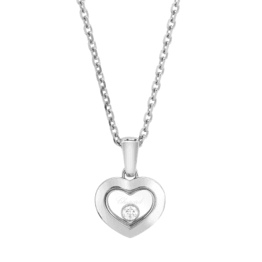 Chopard Happy Diamonds New Icons 18ct White Gold Heart Pendant