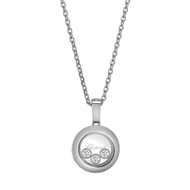 Chopard Happy Diamonds New Icons 18ct White Gold Round Pendant