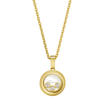 Chopard Happy Diamonds New Icons 18ct Yellow Gold Round Pendant