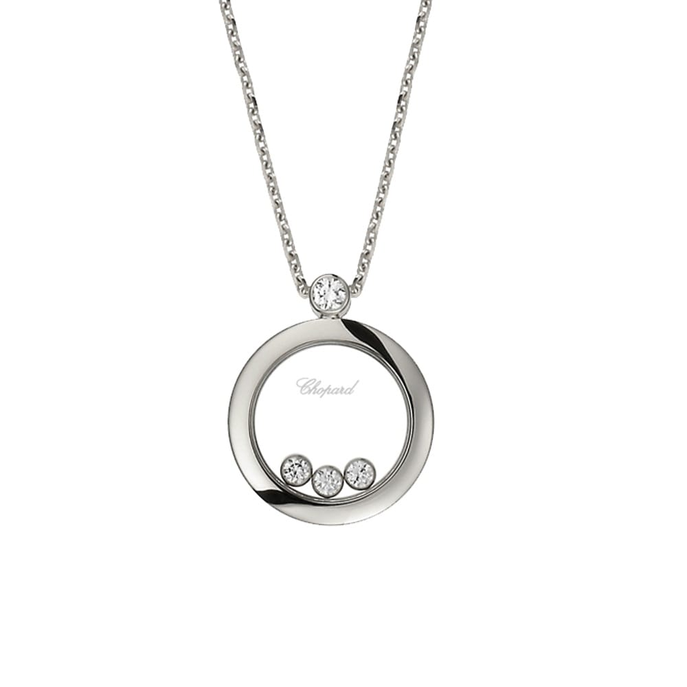Happy diamonds themes 18ct white gold round pendant chopard happy diamonds themes 18ct white gold round pendant mozeypictures Images