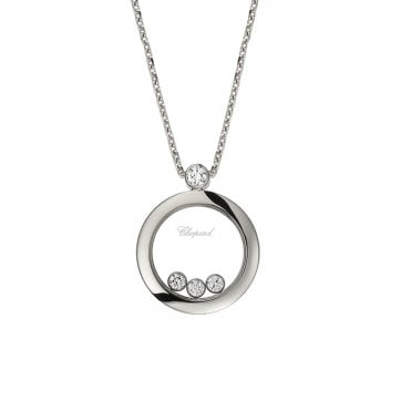 Chopard Happy Diamonds Themes 18ct White Gold Round Pendant