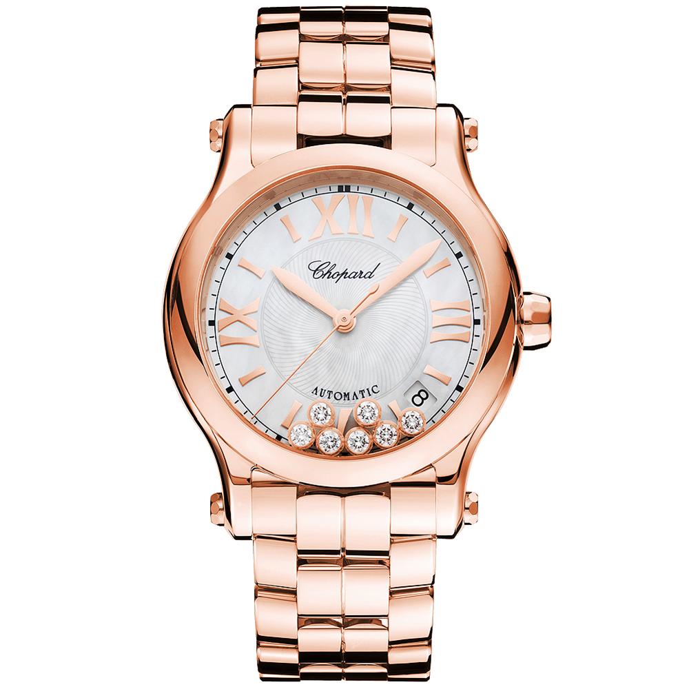 35fb86a4dac6e Chopard Happy Sport 36mm Diamond Dial & Bezel Ladies Bracelet Watch