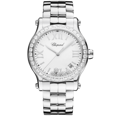 Happy Sport 36mm Diamond Dial & Bezel Ladies Bracelet Watch