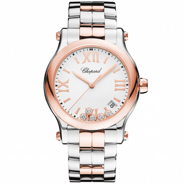 Happy Sport 36mm Diamond Dial & Two-Tone Ladies Bracelet Watch