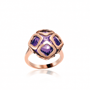 Imperiale 18ct Rose Gold & Amethyst Ring