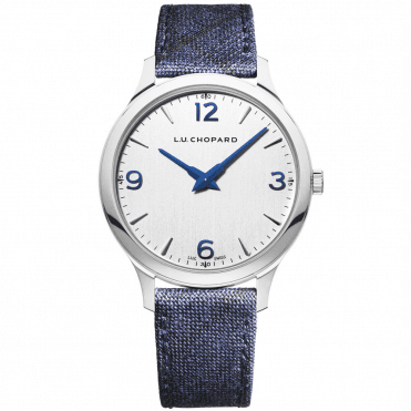 L.U.C XP Silver/Blue Dial Ladies Fabric Strap Men's Watch