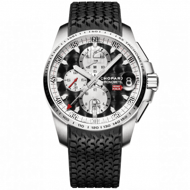 Mille Miglia GT XL Chronograph Steel Black Dial Men's Strap Watch