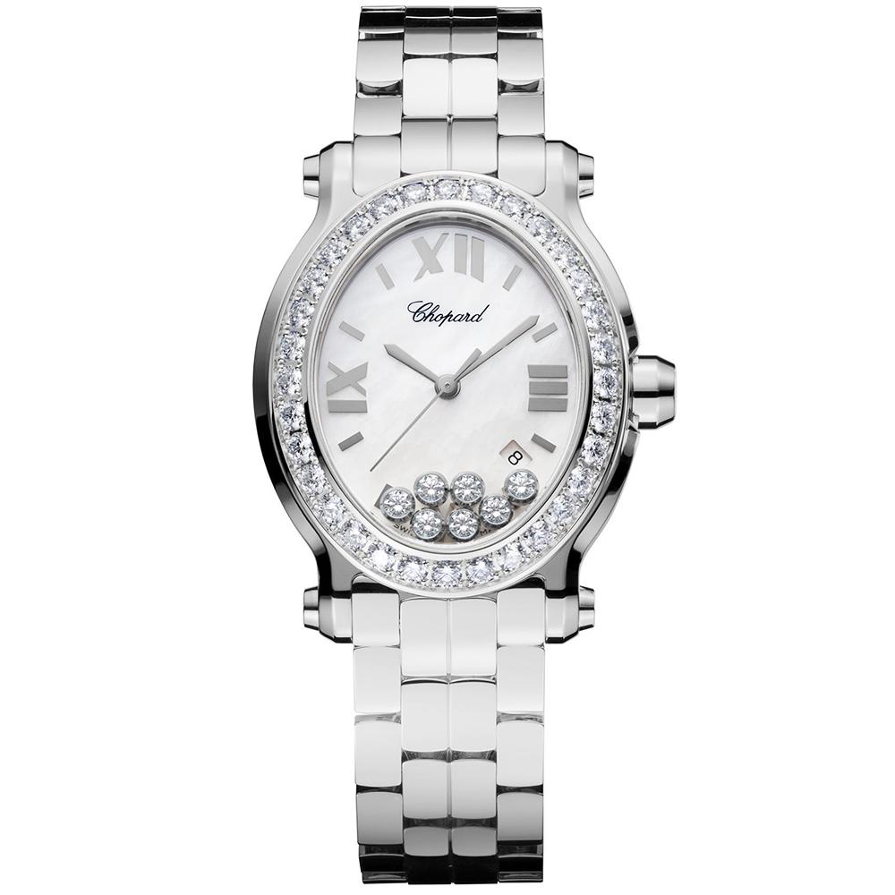 e66f33e2a48e0 Chopard Sale Chopard Sale Happy Sport Oval 33mm Diamond Dial & Bezel Ladies  Watch
