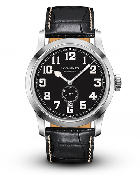 Longines Heritage Men's Leather Strap Watch
