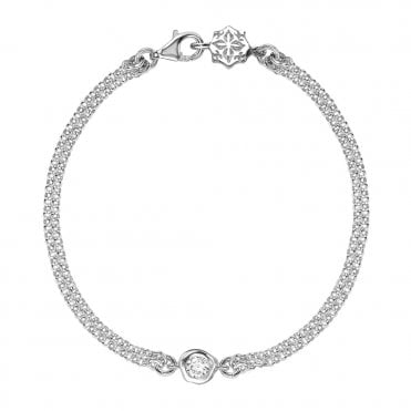 Dower & Hall Sterling Silver Dewdrop Double Chain Bracelet