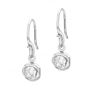 Sterling Silver Dewdrop Topaz Earrings
