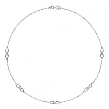 Sterling Silver Entwined Infinity Necklace