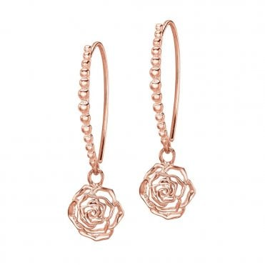 Dower & Hall Sterling Silver & Rose Vermeil Wild Rose Dotty Earrings