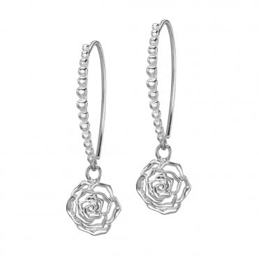 Sterling Silver Wild Rose Dotty Earrings